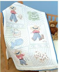 St&ed Embroidery Baby Quilt Tops St&ed Embroidery Baby Quilt ... & Stamped Embroidery Baby Quilt Tops Stamped Embroidery Baby Quilt Blocks  Stamped Embroidery Baby Quilts Little Boy Adamdwight.com
