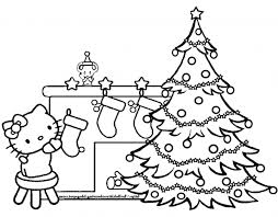 Small Picture Hello Kitty Christmas Coloring Page Coloring Pages Kids Collection