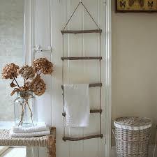 diy towel storage. Treehouse Ladder Hanging Towel Display Diy Storage