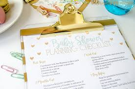 Free Printable Baby Shower Planning Checklist Money Saving