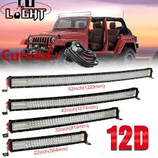 52 Inch Light Bar For Jeep Us 96 9 43 Off Co Light 22 32 42 52 Inch 12d Curved Led Light Bar Combo 12v 24v Off Road Led Bar For Suv 4x4 Lada Uaz Jeep Auto Driving Light In
