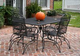 black wrought iron outdoor furniture. rectangular patio set table and four chairs luxury wrought iron black outdoor furniture