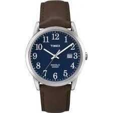 tw2p75900 timex mens easy reader blue brown watch timex tw2p75900 mens easy reader blue brown watch