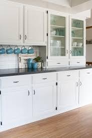 white cottage kitchens. Black And White Farmhouse Kitchen Makeover Cottage Kitchens