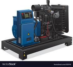 diesel generator. Diesel Generator Vector Image N