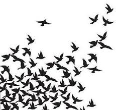 flock of birds silhouette.  Flock Bird Silhouettes By Twilightrun Via Flickr On Flock Of Birds Silhouette S