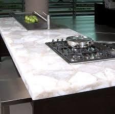 backlit white quartz counter top image