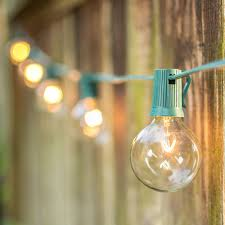 outdoor strand lighting. Black Wire Outdoor Globe String Lights | Wedding Strand Lighting E