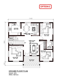 3 bhk plan independent house unique 3 bhk home plan lovely 2 bedroom house plans kerala