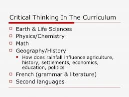 Teaching critical thinking skills to high school students