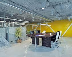 loft office. Modern Loft Office Interior. 3d Design Concept Stock Photo - 36753208