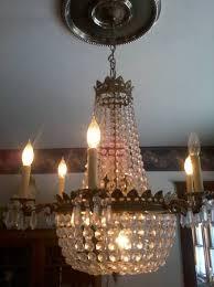 antique empire crystal chandelier
