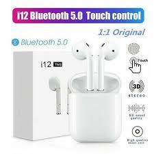 i12 <b>TWS Bluetooth 5.0 Earbuds</b> Wireless Headphones Earphones ...
