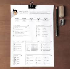 Graphic Resume Templates 40 Best 2018's Creative Resume/CV Templates | Printable DOC