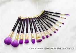 sonia kashuk makeup brushes. sonia kashuk celebrates 15 years of award winning brushes limited edition purple anniversary brush set beauty makeup blender dhl free cosmetic
