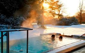 View in gallery Armathwaite Hall's outdoor hot tub