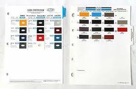 1996 Porsche Color Chart Us Brochure 911 Carrera C4s 993