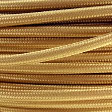 fabric lighting cable 3 core. fabric lighting cable in a gold finish round 3 core flex r