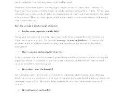 Sample Job Objectives Resume Cocinacolibri Com