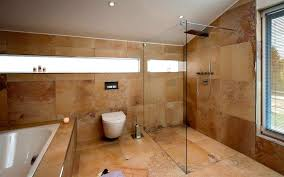 Badezimmer Grau Orange Naturstein Und Holz Das Bad Mit Natürlichen