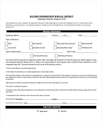 Holiday Request Form Inspiration Employee Absence Request Form Leave Template For Resume Pdf Dialabco
