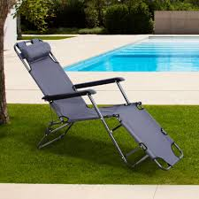 2x outsunny sun lounger recliner chair