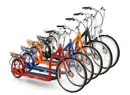 multi colored bikes