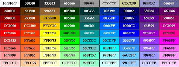 Printable pdf rgb cheat sheet abbreviated from my html version. Webpage Styling Colours And Fonts Website Freedom Html Color Chart Html Color Codes Html Color
