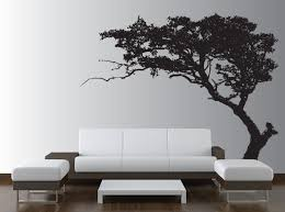 Tree Design Wallpaper Living Room Wall Decals Ideas A Replacement Of Wallpapers Homes Innovator