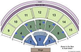 Great Woods Seating Chart Xfinity Center Seating Chart