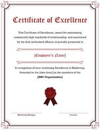 Award Of Excellence Certificate Template 100 Free Printable Certificates of Excellence Templates 42