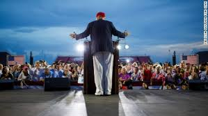 Image result for trump at alabama football stadium pics