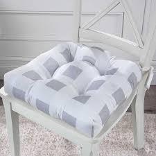 2 pak 16 sq buffalo check plaid tufted soft dining chair cushions pads 4 colors set of 2 burdy