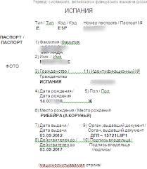 Нотариальный перевод паспорта с испанского на русский Образец нотариального перевода паспорта с испанского на русский