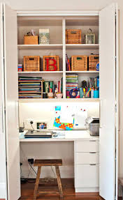 Diy Closet Office Desk Converted To Space Organizer. Closet Home Office  Ideas Desk Organizer Closest Depot To My Current ...