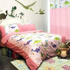 dinosaur homes pink bedding set wow colorful mart bedroom little girl