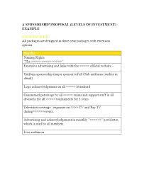 seeking sponsorship letter sporting proposal