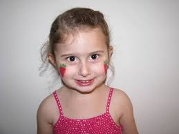 strawberry face painting