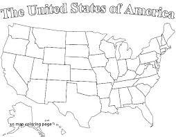 United States Map Coloring Page Trustbanksurinamecom