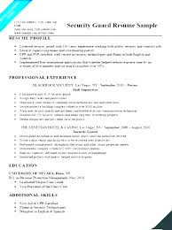 Security Guard Resume Examples Security Guard Resume Airexpresscarrier Com