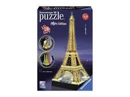 Ravensburger Svítící 3d Puzzle Noční Edice Eiffelova Věž 216 Dílků