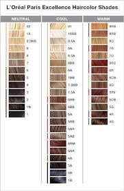 Loreal Color Chart Loreal Paris Excellence Color Chart In 2019 Hair Color