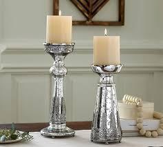 madeline mercury glass pillar holders pottery barn