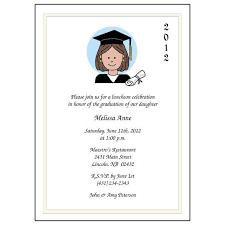 Formal Graduation Announcement Cartoon Person Graduation Invitation Or Announcement Girl Or Woman