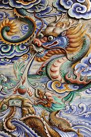 typical chinese temple s wall painting dragon clouds this stock photo on shutterstock find other images