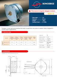 permanent magnet stepper motor 6231 s 1 2 pages