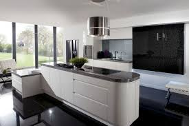White Kitchen Modern Modern Galley Kitchen Design White Pattern Curtain Stainless Steel