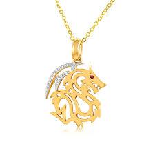 ruby diamond chinese dragon pendant 9ct yellow gold g10004616