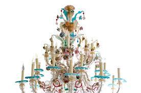 antique venetian murano glass chandelier 3