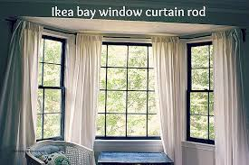 How To Hang Curtains On Arched Window Awesome Curtain Rods For Bay Windows